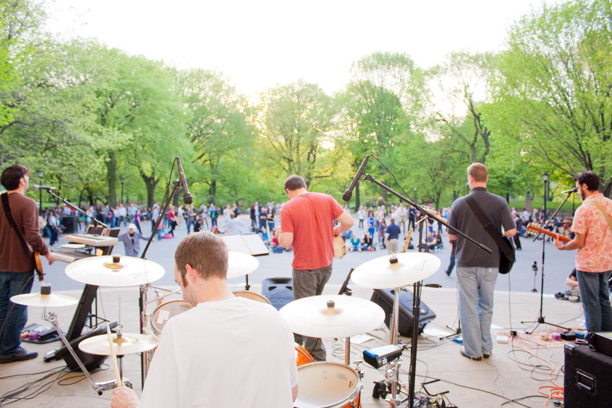 Jake And The Mountain Men live at the Naumburg Bandshell in Central Park, NYC 2009.