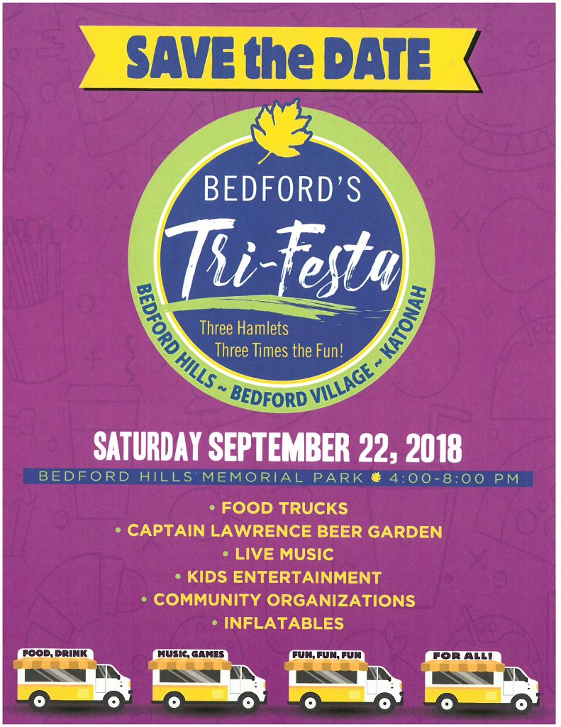 Poster for Bedford's TriFesta 2018