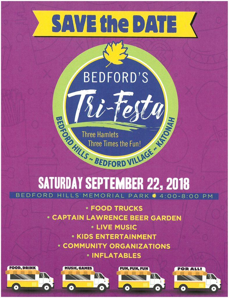 Poster for Bedford's TriFesta 2018